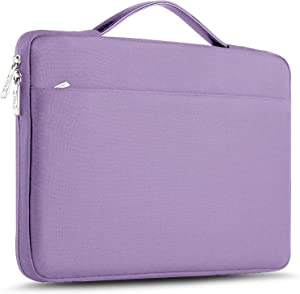 "ZINZ Laptop Sleeve 15 15.6 16 Inch Case Briefcase, Compatible MacBook Pro 16 15.4 inch, Surface Book 2/1 15"" Super Slim Spill-Resistant Handbag for Most Popular 15""-16"" Notebooks, Purple"