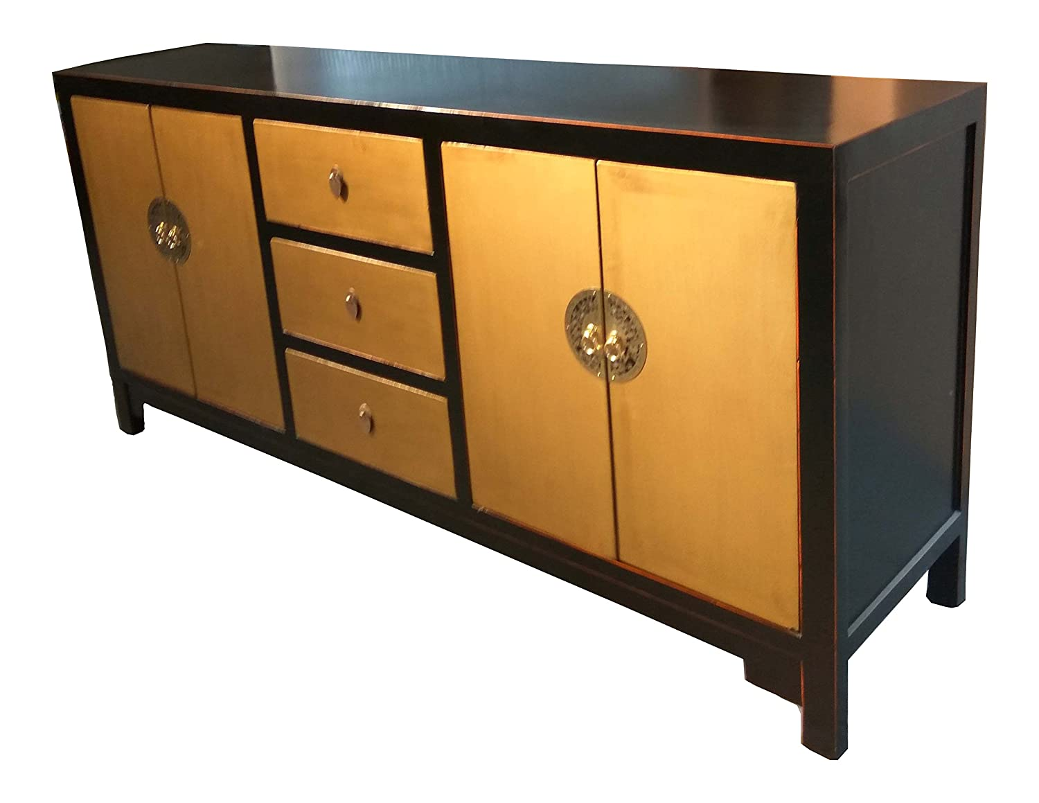 opium outlet tv kommode sideboard aus china in goldoptik. Black Bedroom Furniture Sets. Home Design Ideas