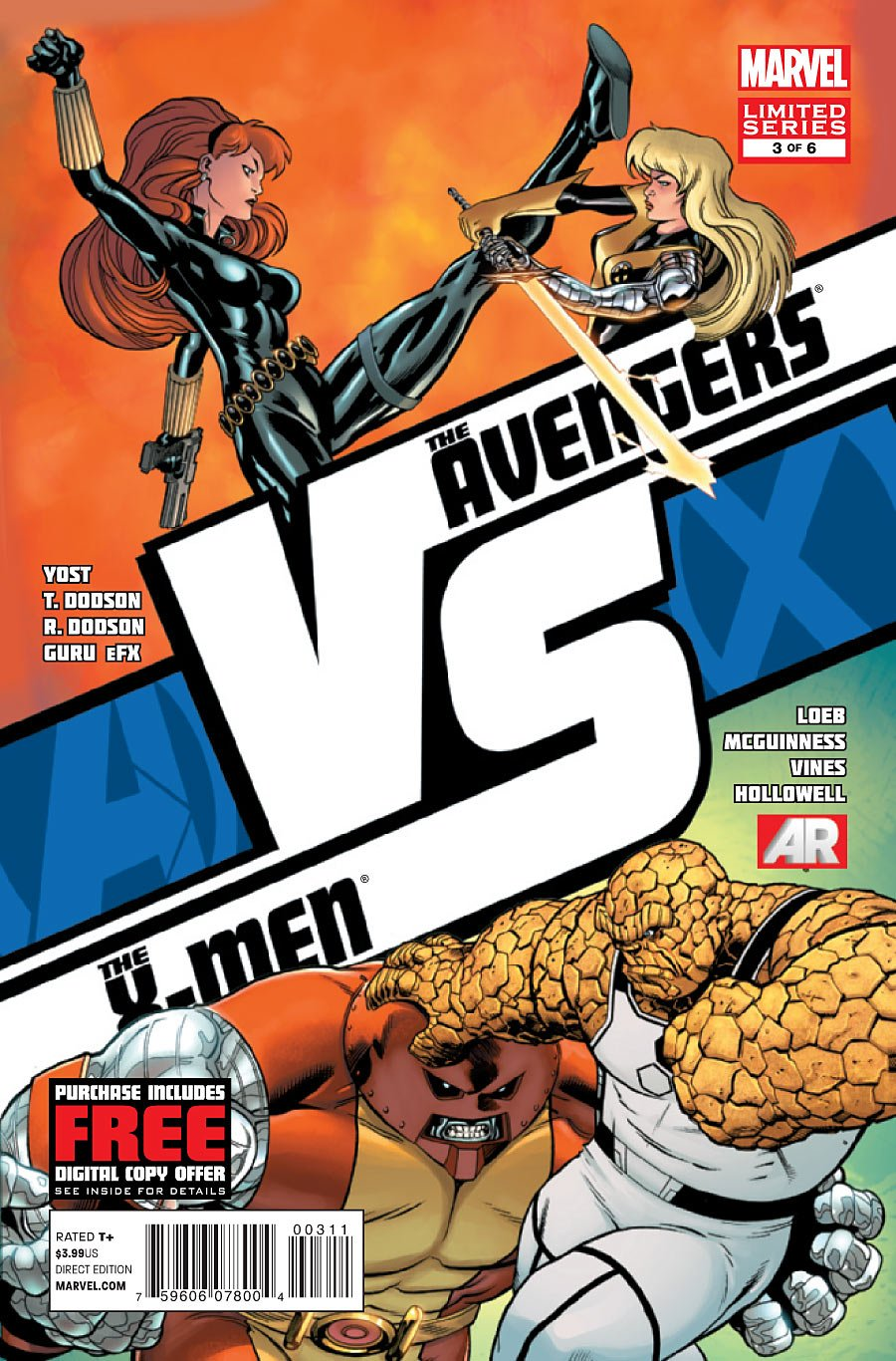 "The avengers VS The X-Men #3 (""Black Widow vs. Magik & Colossus vs. Thing"") PDF"