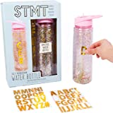 STMT DIY Monogram Water Bottle By Horizon Group Usa, Bpa Free. Includes Trendy Gold Foil Alphabet Stickers To…
