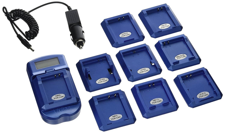 Vivitar VIVSC3100BLUC LCD Battery Charger for Canon Batteries Blue
