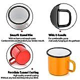 Enamel Camping Coffee Mug Set of 6, P&P CHEF
