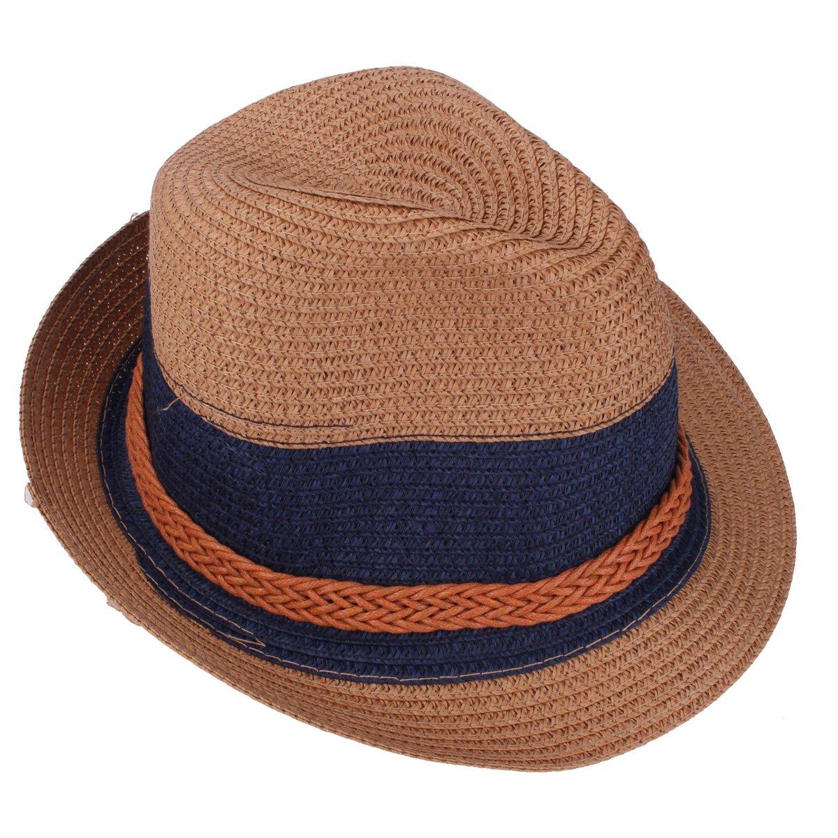 Sombrero de Paja de Panam/á Sombrero de Mujer Sombrero de Verano Sombrero de Sol Fedora Gorra de Concha Correa de Cuero