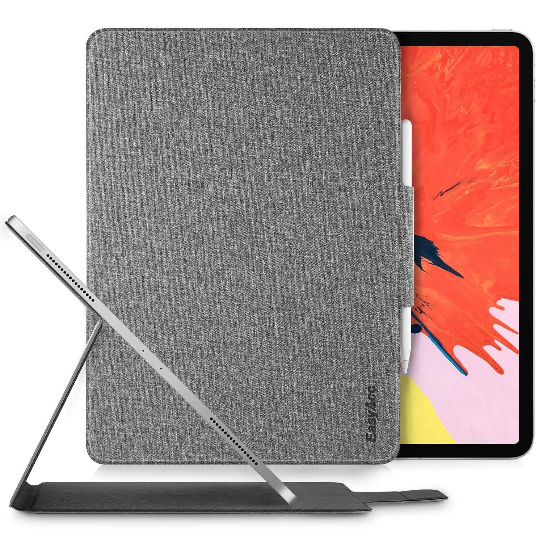 フジオカシ EasyAcc iPad Pro バックケース 12.9インチ Pro 2018用ケース ウルトラスリム スマート マグネット式 B07L68WFZZ バックケース ブックフリップケース スタンド機能付き 自動ウェイク/スリープ機能 iPad Pro 12.9インチ 2018用 グレー B07L68WFZZ, 野球用品スポーツショップムサシ:2d40be49 --- a0267596.xsph.ru