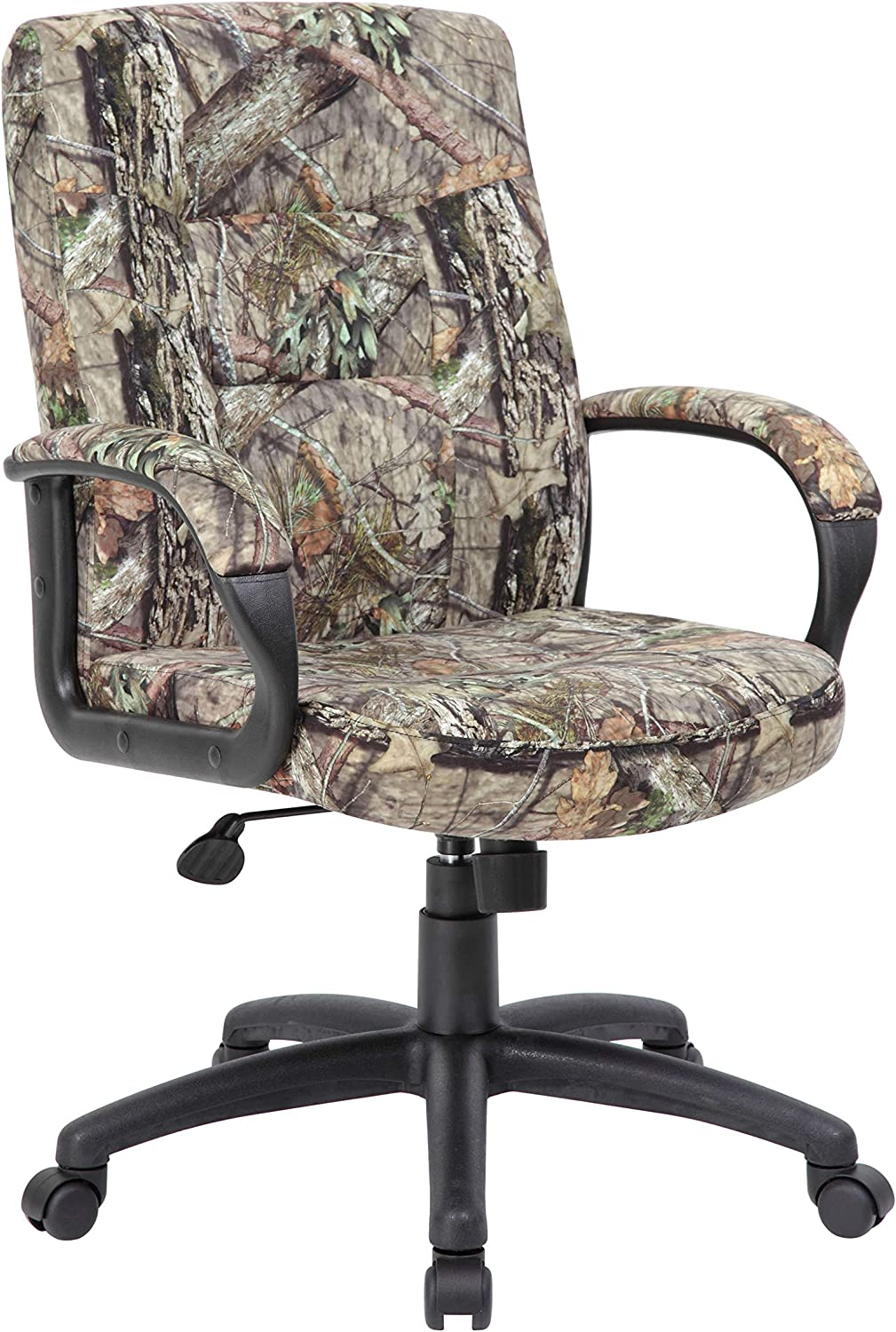 Boss Office Products Mossy Oak Break-Up Country Executive Mid-Back Chair, Camo