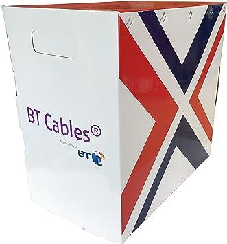 BT Cat 6 Solid PVC 305 M, Caja Gris 100% de cobre cable de datos ...