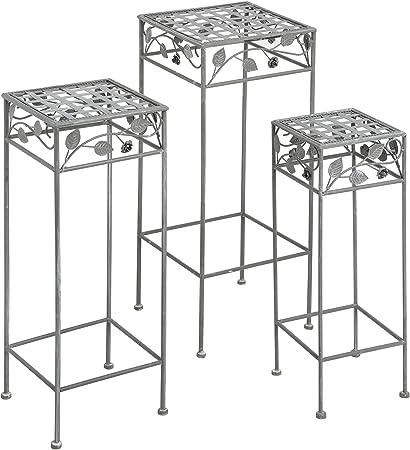 Tavoli Alti Per Esterno.Hill Interiors Set Di Tre Tavolini Alti Per Esterni Taglia