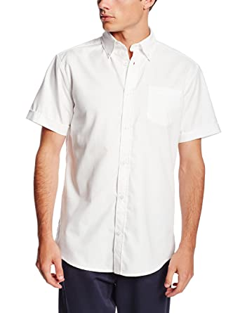 Lee Uniforms Men S Short Sleeve Oxford Shirt At Amazon Men S