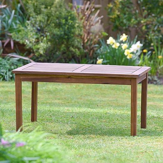 Plant Theatre - Mesa de jardín de madera maciza de excelente ...
