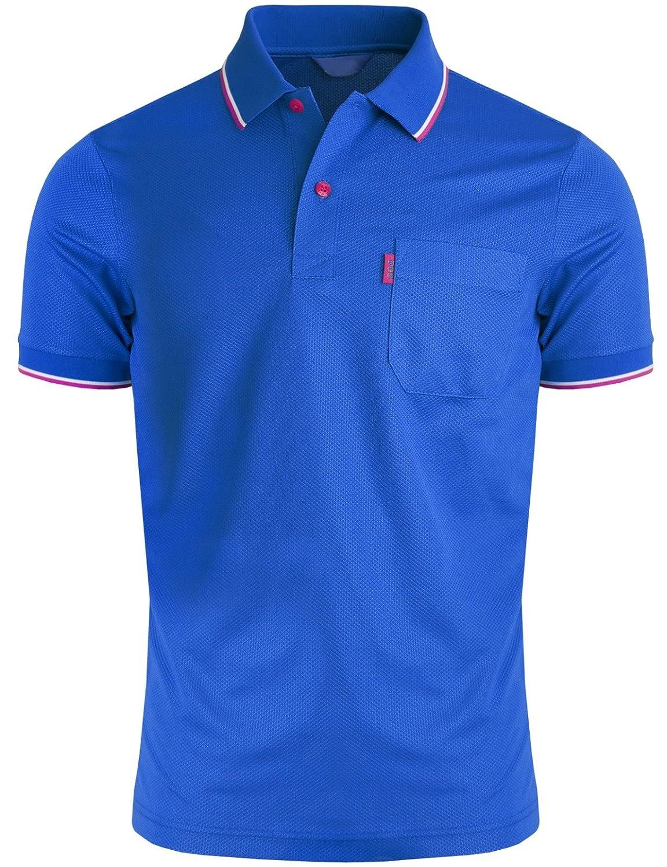 BCPOLO Camisa de Polo para Hombre 1 Bolsillo en el Pecho Dri Fit ...