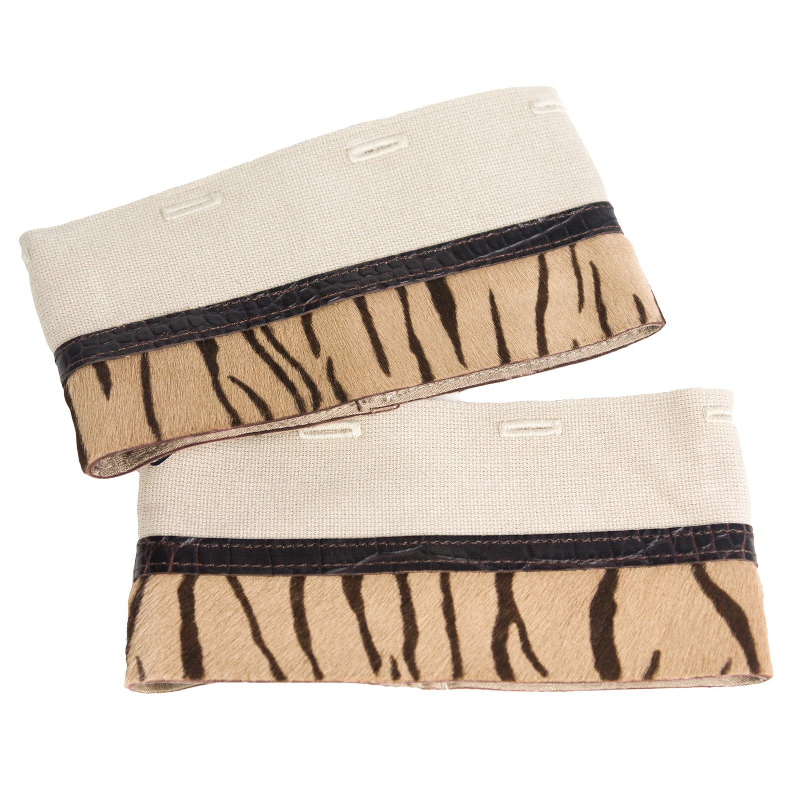 'S Max Mara Women's Benny Tiger Print Cube Collection Cuffs One Size Camel