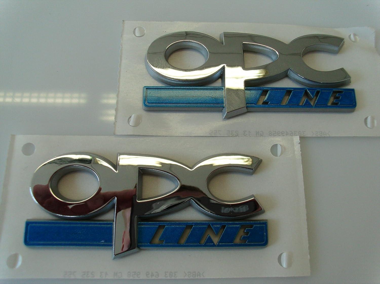 ORGINAL Opel OPC-Line Schriftzug in Chrom Blau 171684 OPC Line