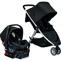BRITAX B-Lively Travel System with B-Safe 35 Infant Car Seat   One Hand Fold, XL Storage, Ventilated Canopy, Easy to…