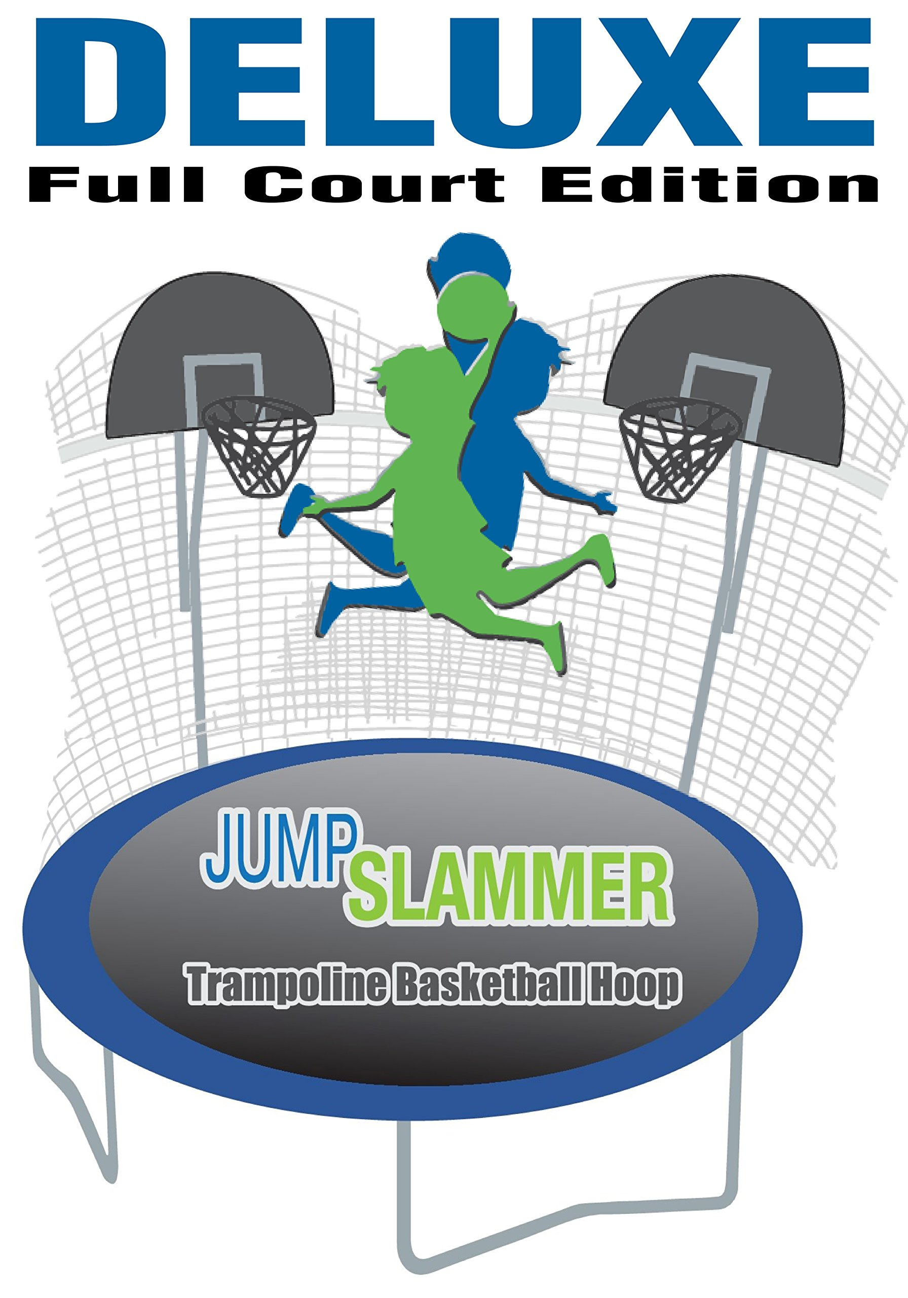 Trampoline Pro Jump Slammer Trampoline Basketball Hoop | Easy Install | Foam Ball Included (Slammer Full-Court Deluxe) by Trampoline Pro