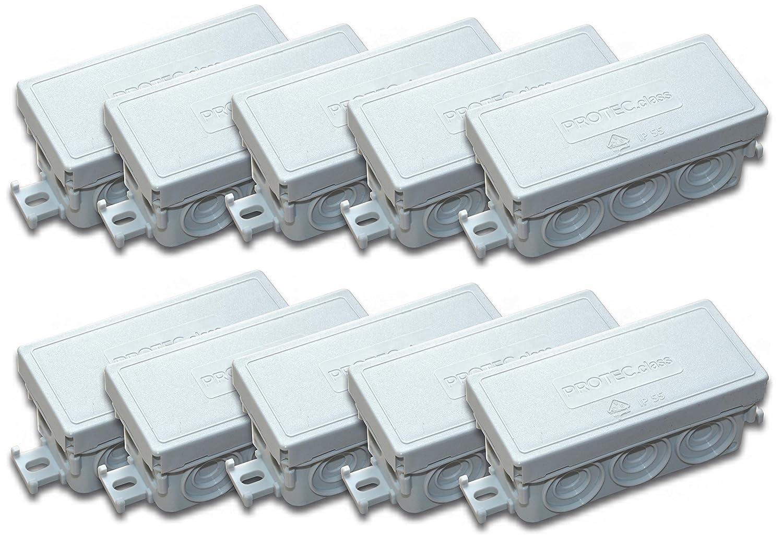 10 pcs caja de conexión x 89 x 43 x 37 mm IP55 color Protec.class