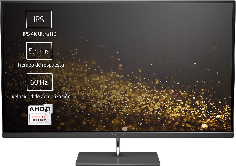 HP Envy 27s - Monitor IPS 4K Ultra HD (3840 x 2160 Pixeles, LED, 4K Ultra HD, IPS, 1300:1, AMD FreeSync) Color Negro: Hp: Amazon.es: Informática