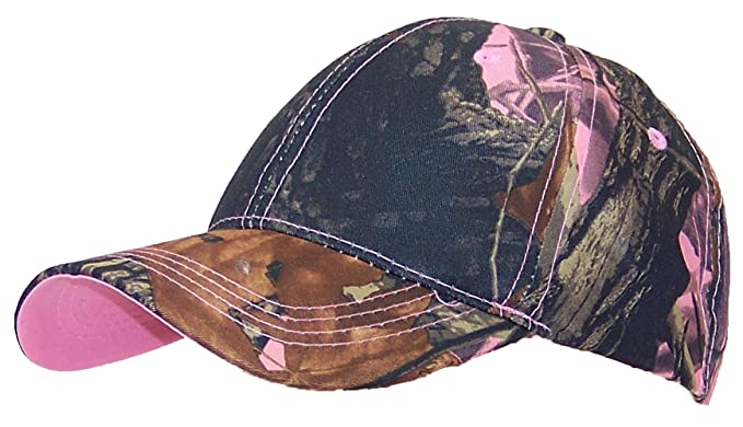 61b14be57f1 Y W Headgear Tree Camouflage Adjustable Hook And Loop Hat (One Size) - Pink  Camo