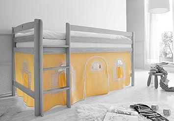 Etagenbett Verschönern : Amazon vorhangstoff für hoch und etagenbetten mit farbauswahl