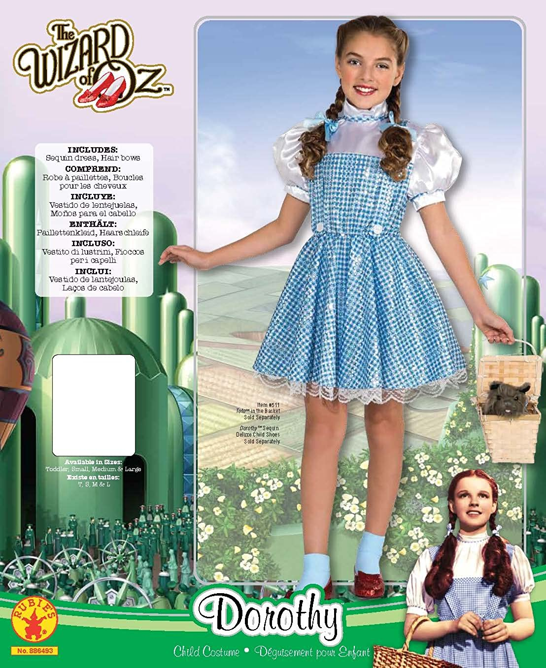 Pedomom   Amazon | ルビー女の子小についてはオズドロシースパンコール衣装コスチューム共同R886493_Sウィザード | キッズコスチューム |  服&ファッション小物