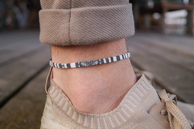 Festival anklet woven southwestern bracelet hippie anklet desert anklet tribal cotton anklet beach anklet macrame braided bracelet
