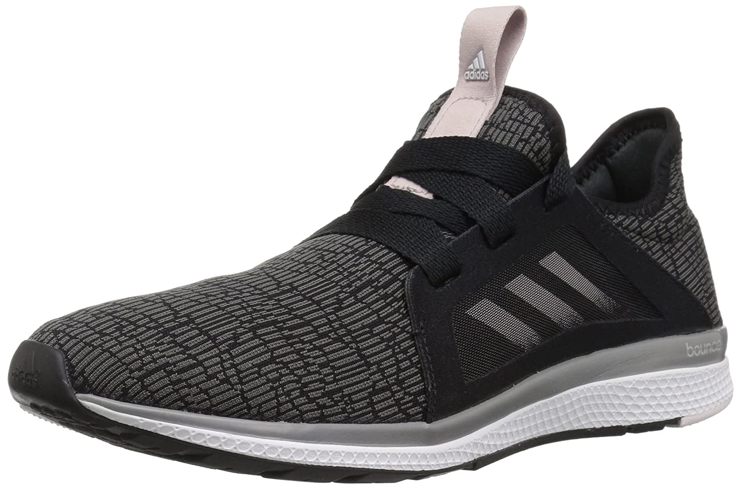 adidas Women's Edge Lux Running Shoe B072N93SQJ 9.5 B(M) US|Core Black, Vapour Grey Met.fabric, Orchid Tint S