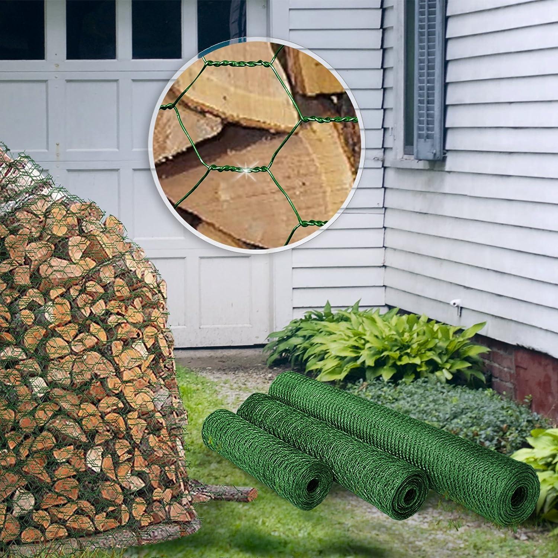 galvanizado o recubierto de verde tama/ño de 13 y 25 mm para jard/ín balc/ón y animales peque/ños Cerca de malla de alambre hexagonal varios tama/ños