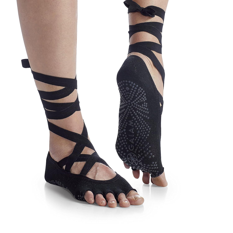 Gaiam Grippy Yoga Socks for Extra Grip in Standard or Hot Yoga