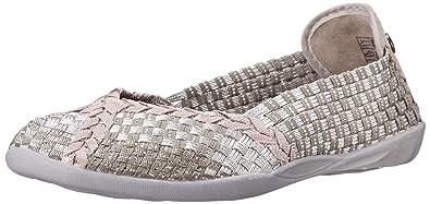 d7a20318a4f5 Bernie Mev Women's Braided Catwalk Silver Grey/Rose Gold Flats - 36 M EU /