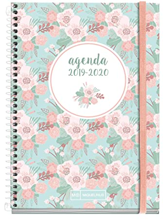 Miquelrius agenda escolar con espiral 2019 2020 día página floral español 117x182 mm
