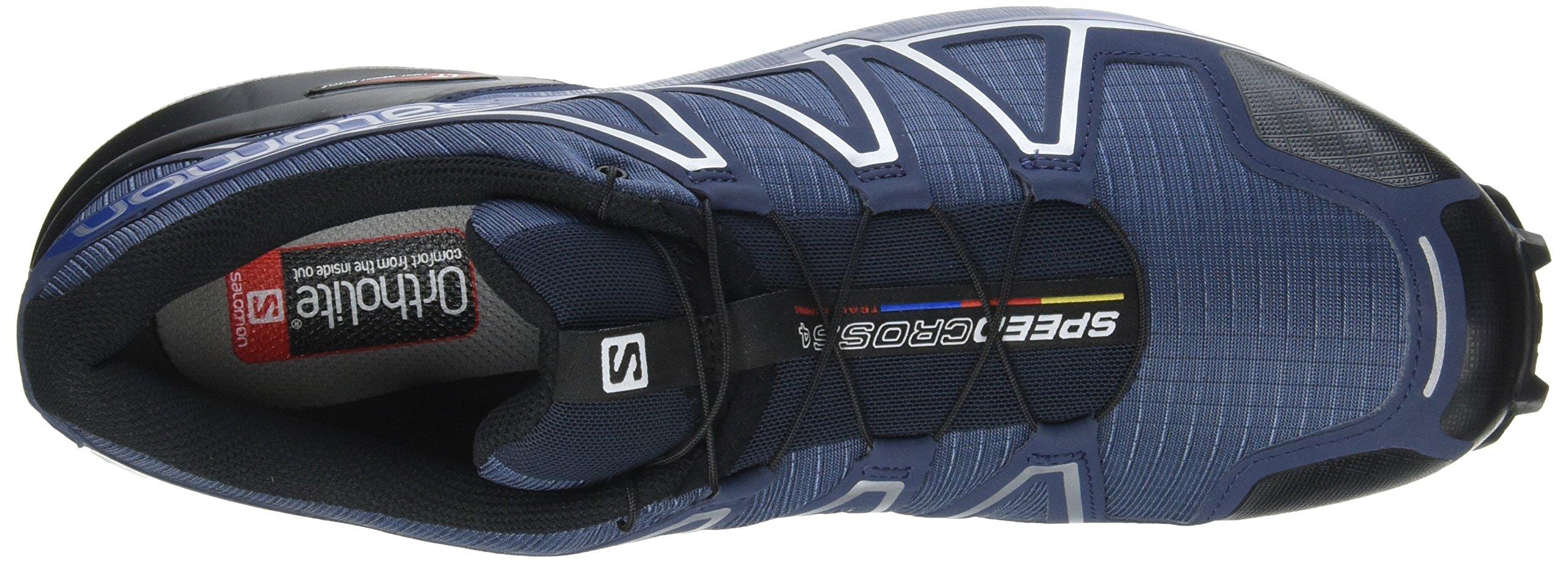 Salomon Men's Speedcross 4 Trail Runner, Slate Black/Blue Yonder, 7 D US by Salomon (Image #13)