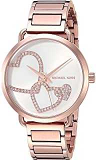 Michael Kors Womens Portia Analog Display Analog Quartz Rose Gold Watch MK3825