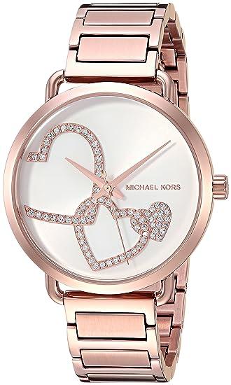 0267ab8e47a6 michael kors Women  s Portia analógico de cuarzo oro rosa reloj mk3825