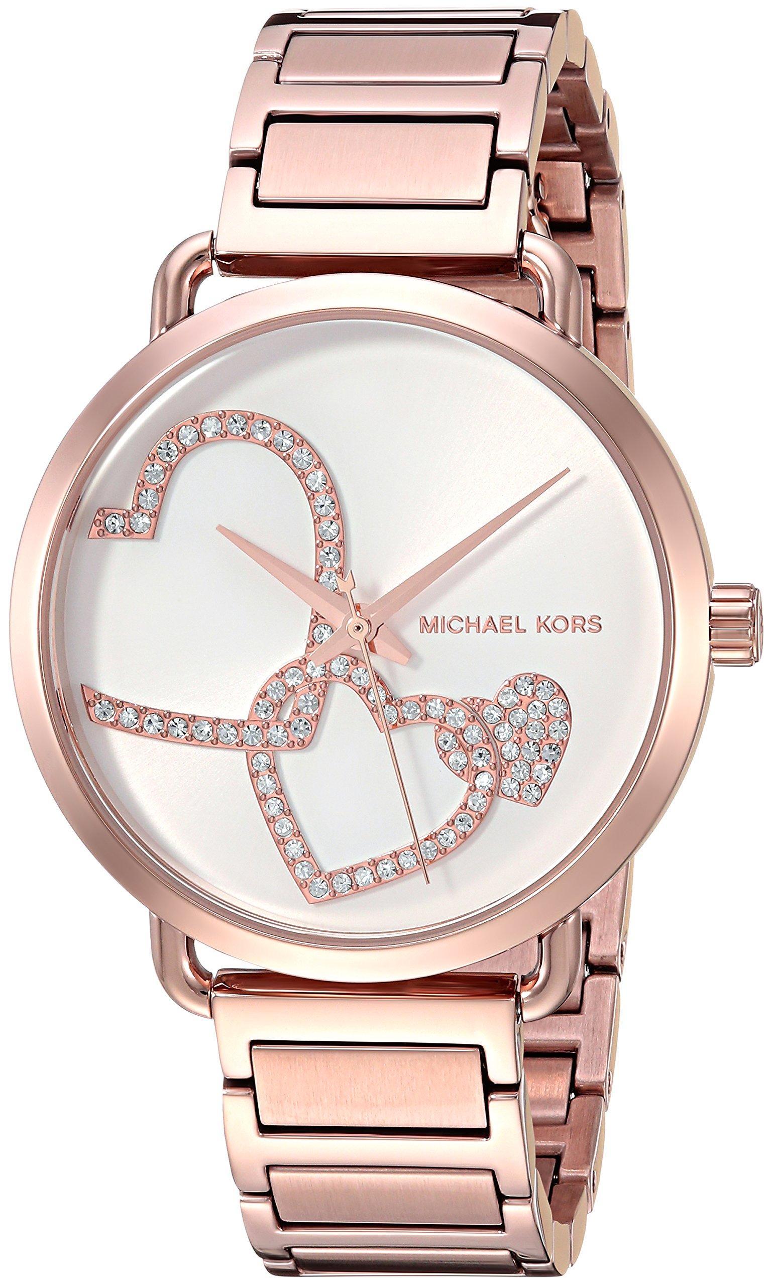 Michael Kors Women's Portia Analog Display Analog Quartz Rose Gold Watch MK3825