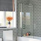 1000mm Luxury Pivot Bath Shower Easy Clean Glass Screen Reversible Door Panel