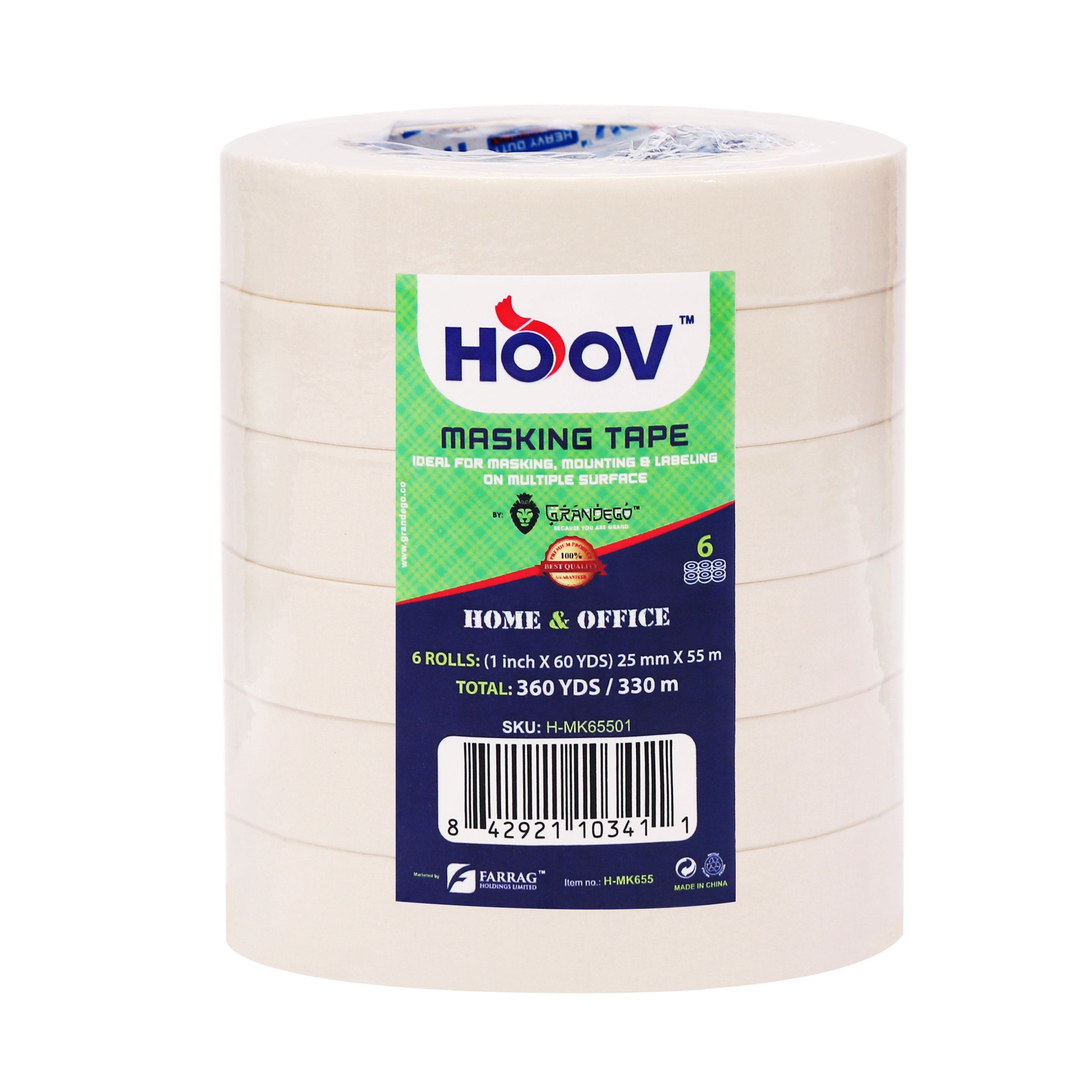 """HOOV General Purpose Masking Tape 