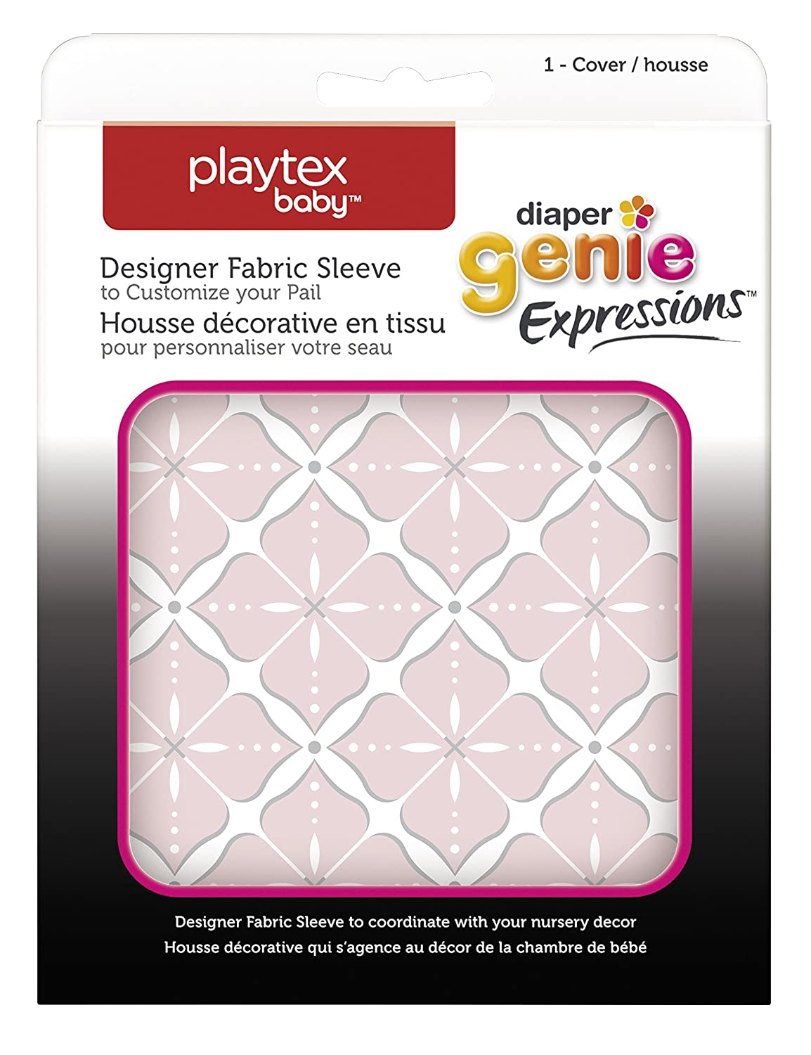 Diaper Genie Playtex Expressions Fabric Sleeve Grey Clovers
