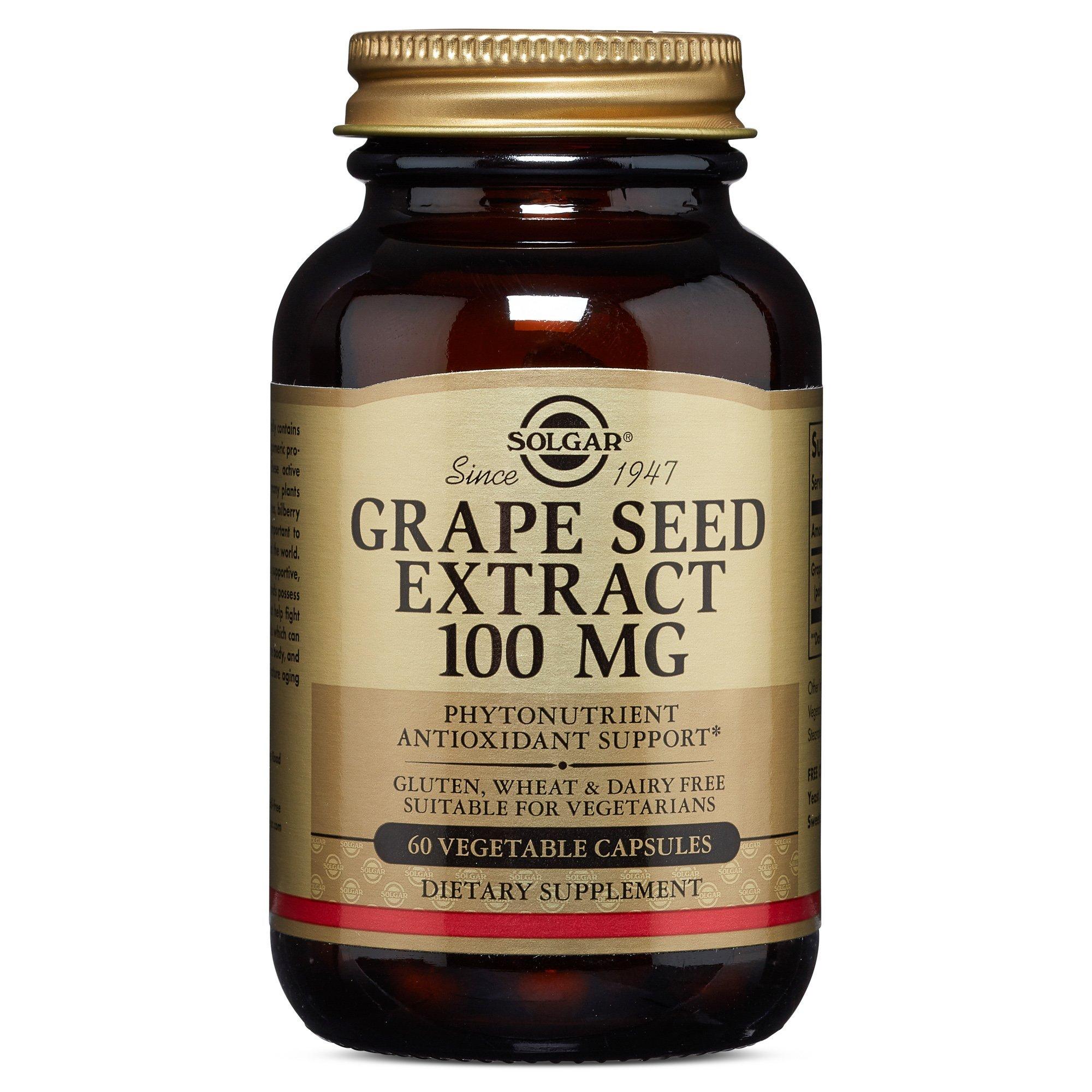 Solgar – Grape Seed Extract, 100 mg, 60 Vegetable Capsules