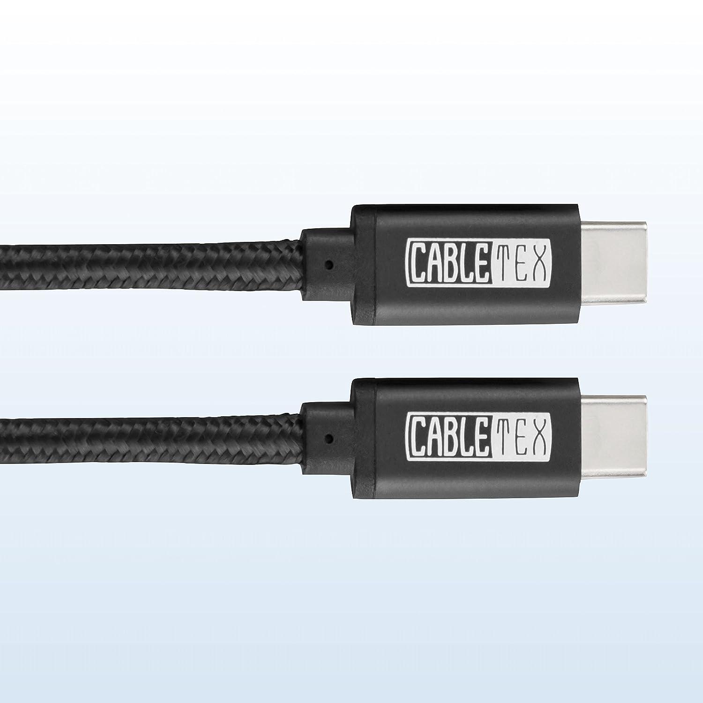 S10+ MacBook Pro OnePlus 3 USB C Cable to Type C USB 3.1 I 3 Metros de Largo I Cable de Carga datar I USB 3.0 Computer /& Smartphones I Oculus Quest Link S9+ Galaxy Negro Huawei P20 Pro