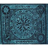 Mandala Creations Celtic Cycle of Ages Tapestry Coverlet Bedspread, Large Table Runner Bed Cover Indian Art, Cotton Bohemian Tapestry, Hippie Tapestry, Cotton Bed Sheet, Decor Art Wall Hanging