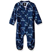 Outerstuff NFL Tennessee Titans Newborn & Infant Raglan Zip Up Coverall Dark Navy, 6-9 Months