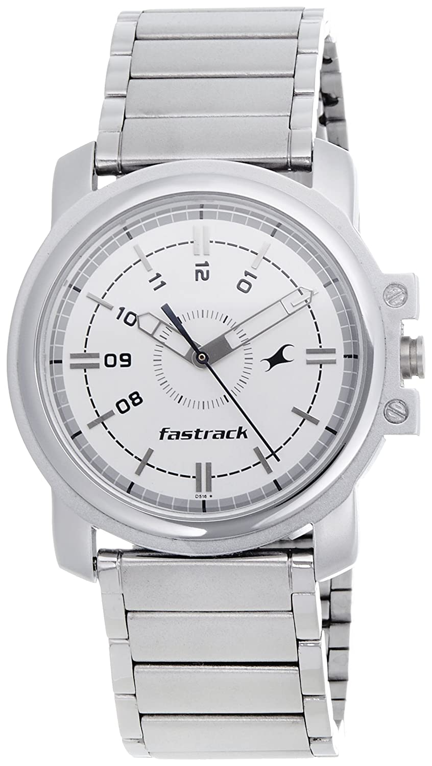 Image result for Fastrack Economy Analog White Men's Watch