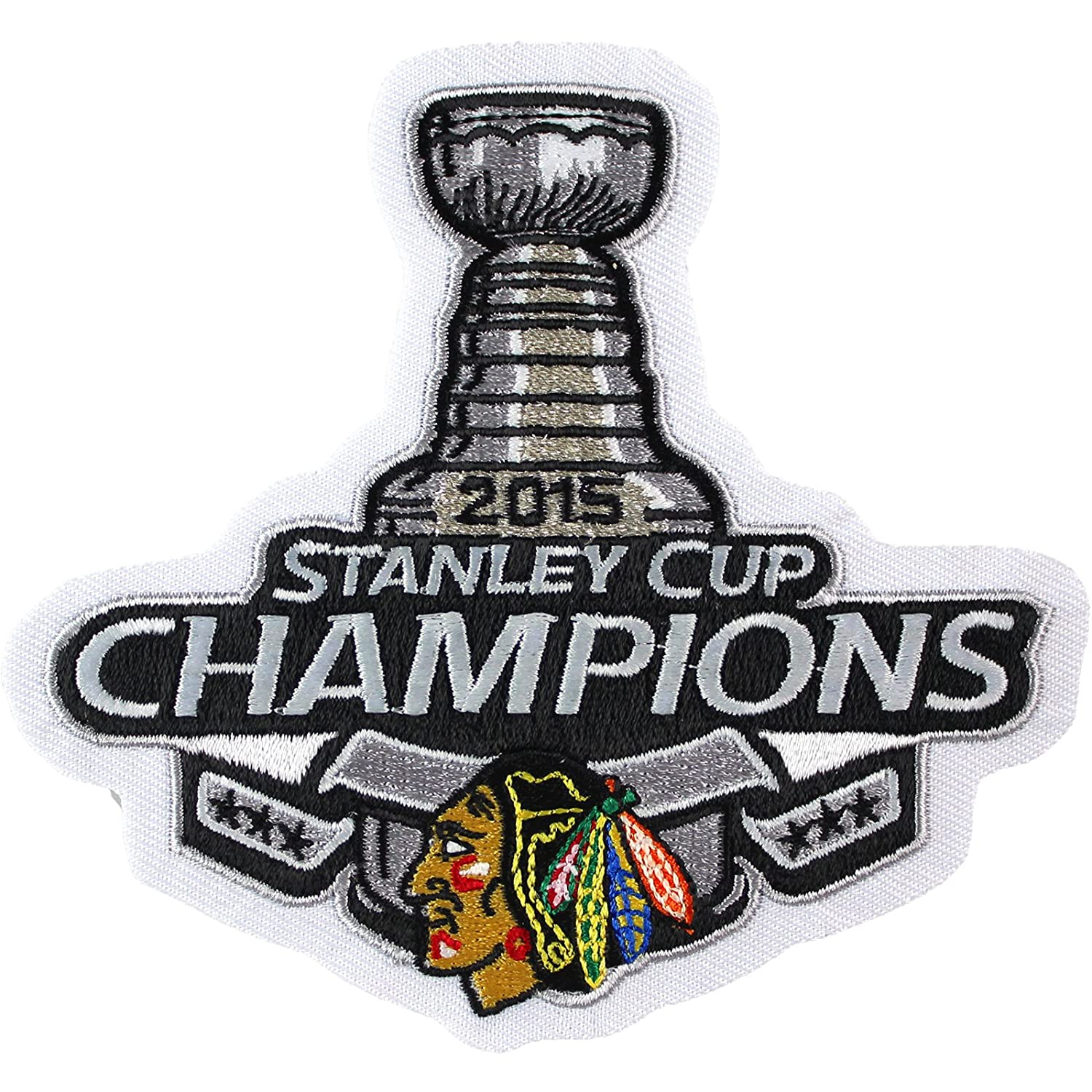 ... Amazon.com 2015 NHL Stanley Cup Final Champions Chicago Blackhawks  Jersey Commemorative Patch Sports Outdoors ... 4c6187853