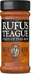 Rufus Teague SPICY MEAT RUB – 6.5oz Shaker – Fiery BBQ Seasoning for Meats and Veggies – Premium Herbs & Spices – Certified Gluten-Free, Kosher & Non-GMO Verified