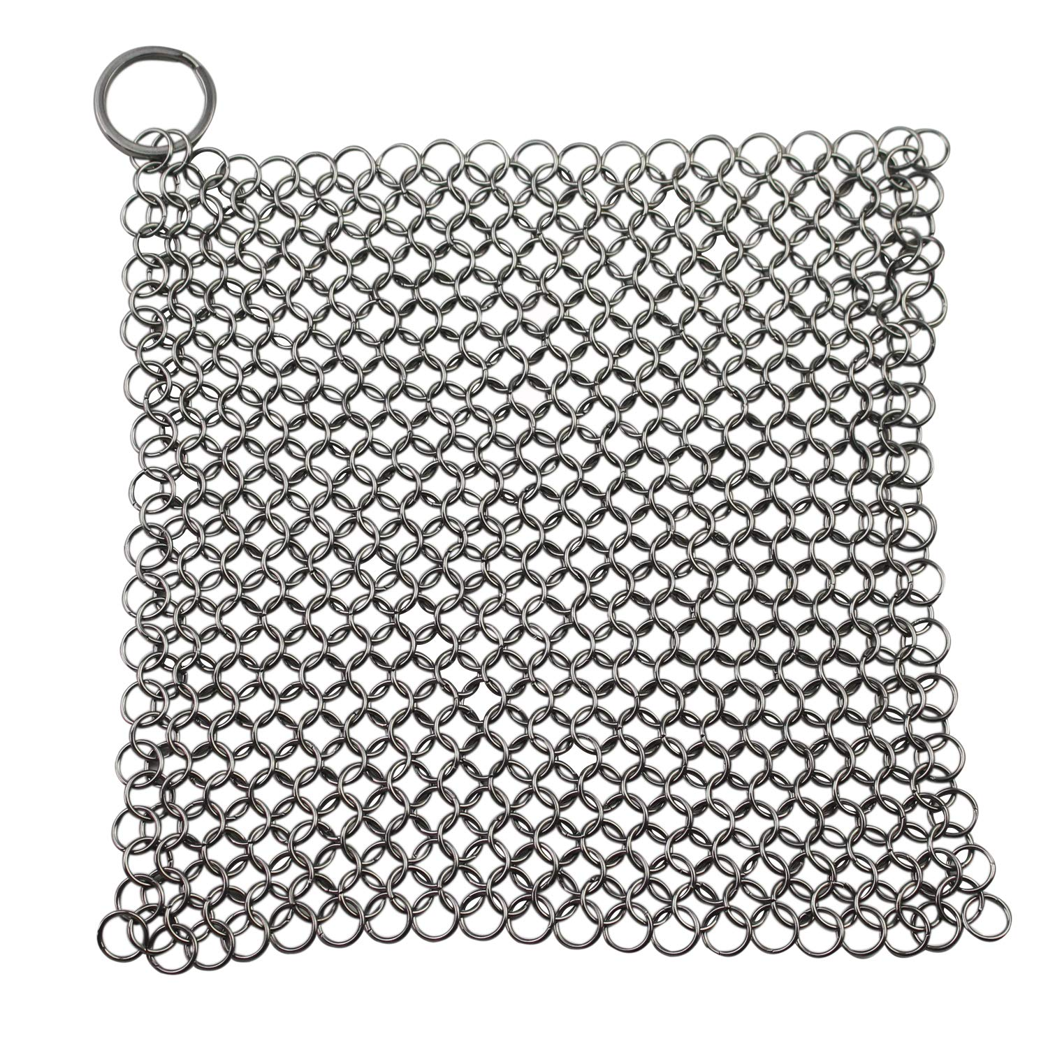 WeiMeet Cast Iron Cleaner 316L Stainless Steel Cast Iron Scrubber Cleaning Mesh for Cast Iron Pan Dutch Ovens Waffle Iron Pans Skillet Stainless Steel Cookware