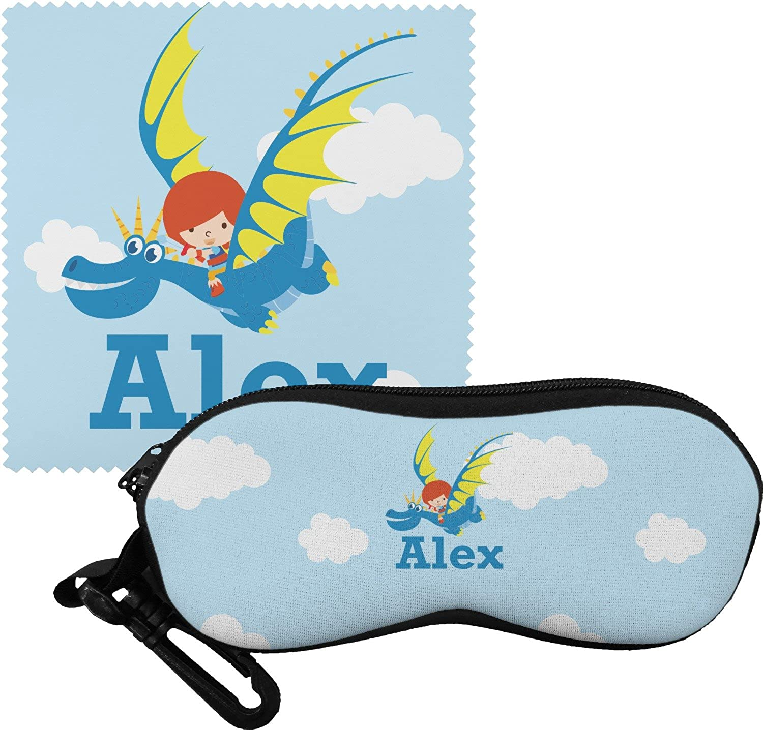 Flying a Dragon Eyeglass Case & Cloth (Personalized)