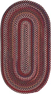 "product image for Bunker Hill Cardinal 8' 0"" x 11' 0"" Oval Braided Rug"