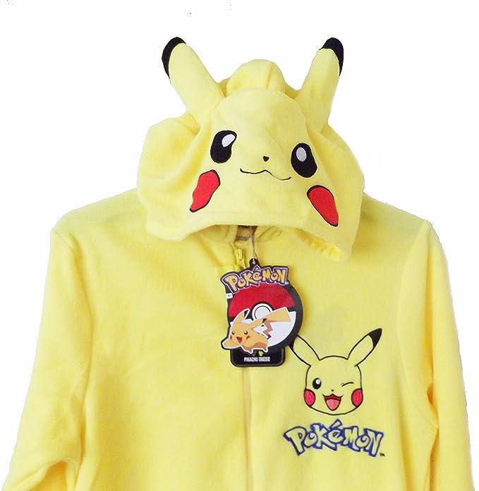 440aea74a Disfraz pijama de Pikachu para hombre amarillo Yellow Pokemon  Amazon.es   Ropa