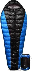 Outdoor Vitals Atlas 0-15 - 30 Degree F 650+ Fill Power Starting Under 3 lbs. Ultralight Backpacking Mummy Down Sleeping Bag for Lightweight Hiking & Camping