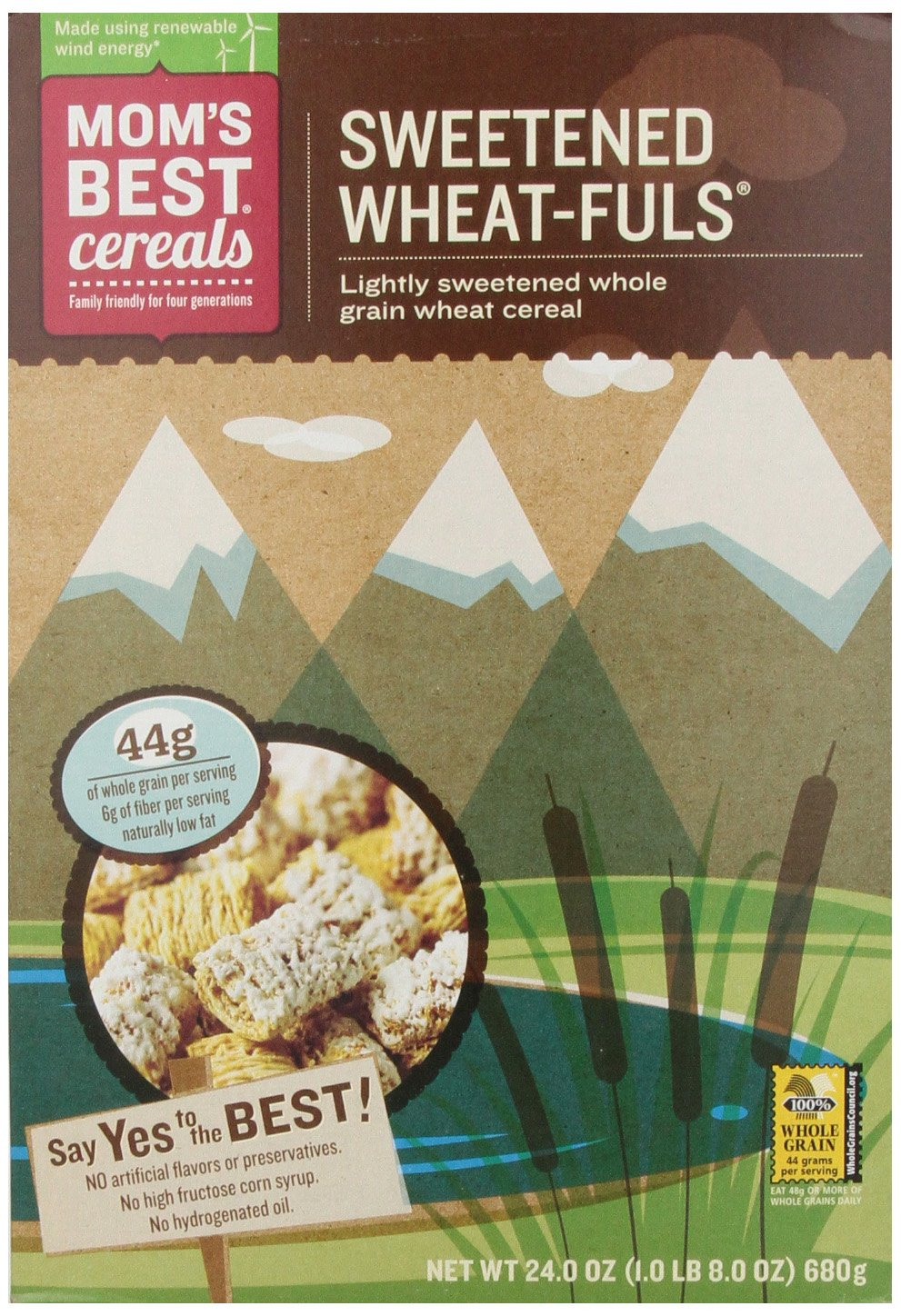 Mom's Best Cereal, Wheat-Fuls Sweetened, 24-Ounce (Pack of 3)