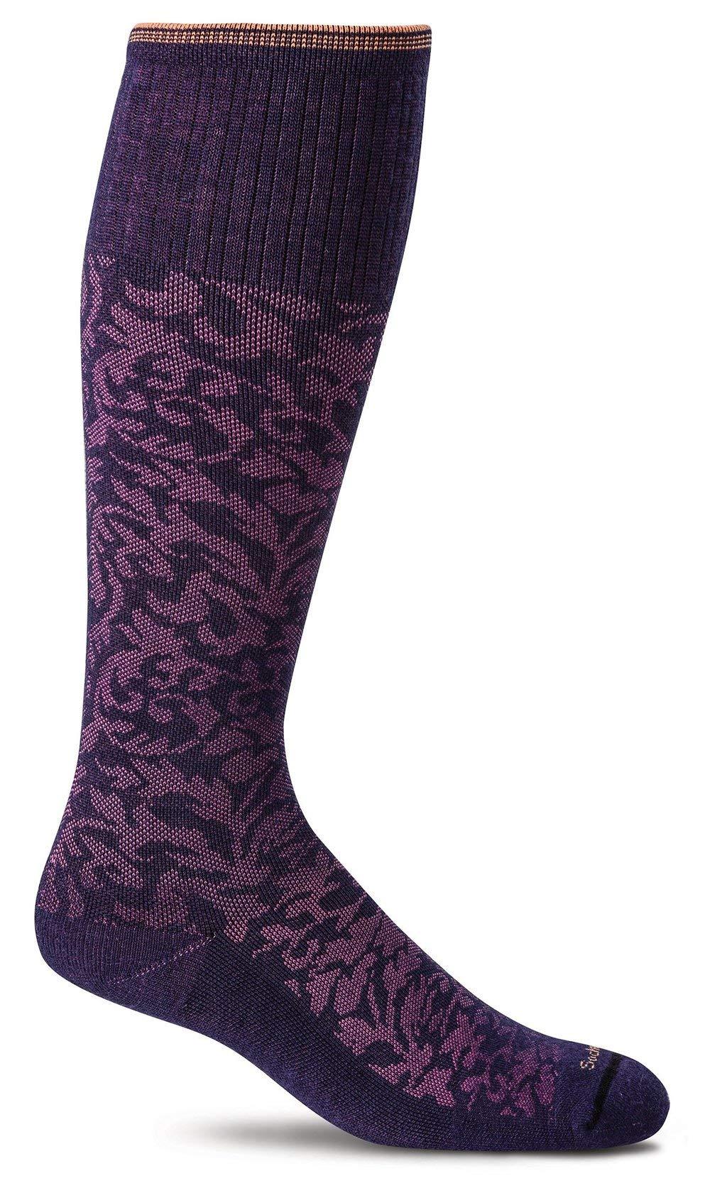 Sockwell Women's Damask Socks, Concorde, Small/Medium